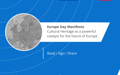 "Europe Day Manifesto ""Cultural Heritage: a powerful catalyst for the future of Europe"